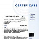 DIN ISO 9001:2015 Zertifizierung der Steffen & Partner Steuerberatungsgesellschaft