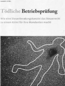 """""""Tödliche Betriebsprüfung"""""""