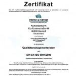 DIN EN ISO 9001:2008 Zertifizierung der Steuerberater