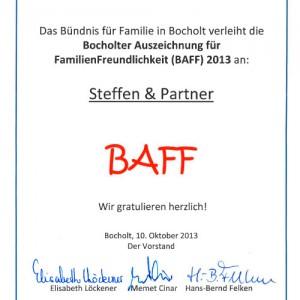 """BAFF: """"Bocholter Auszeichnung für Familienfreundlichkeit"""""""