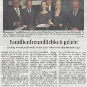 """""""Familienfreundlichkeit gelebt"""" Beitrag zur Bocholter Auszeichnung für Familienfreundlichkeit"""