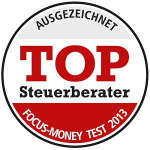 Siegel Top-Steuerberater 2013 von Focus Money