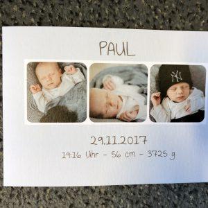 Und wieder ein Junge: Paul ist da!!!