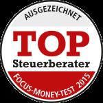 Top-Steuerberater Siegel, vergeben von Fokus Money
