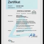 Zertifikat DIN-EN ISO 9001:2008 für unsere Steuerberater